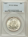 Walking Liberty Half Dollars: , 1937 50C MS66 PCGS. PCGS Population (606/112). NGC Census:(364/75). Mintage: 9,527,728. Numismedia Wsl. Price for problem ...