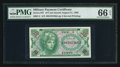 Military Payment Certificates:Series 641, Series 641 10¢ PMG Gem Uncirculated 66EPQ.. ...