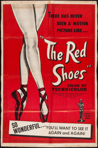 "The Red Shoes (Fine Arts Films, R-1950s. One Sheet (27"" X 41""). Fantasy"