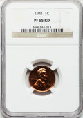 Proof Lincoln Cents: , 1941 1C PR65 Red NGC. NGC Census: (0/0). PCGS Population (490/105).Mintage: 21,100. Numismedia Wsl. Price for problem free...