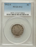 Liberty Nickels: , 1912-S 5C Fine 12 PCGS. PCGS Population (310/1032). NGC Census:(180/591). Mintage: 238,000. Numismedia Wsl. Price for prob...
