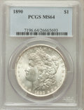 Morgan Dollars: , 1890 $1 MS64 PCGS. PCGS Population (3526/419). NGC Census:(4047/304). Mintage: 16,802,590. Numismedia Wsl. Price for probl...