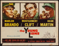"""Movie Posters:War, The Young Lions (20th Century Fox, 1958). Half Sheet (22"""" X 28"""").War.. ..."""