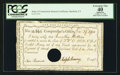 Colonial Notes:Connecticut, Connecticut Interest Certificate December 27, 1790 PCGS ApparentExtremely Fine 40.. ...