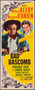 """Movie Posters:Western, Bad Bascomb (MGM, 1946). Insert (14"""" X 36""""). Western.. ..."""