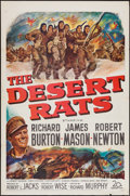 "Movie Posters:War, The Desert Rats (20th Century Fox, 1953). One Sheet (27"" X 41"")Flat Folded. War.. ..."