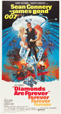 "Movie Posters:James Bond, Diamonds are Forever (United Artists, 1971). Three Sheet (41"" X76.5"").. ..."