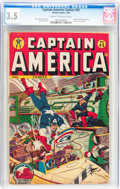 Golden Age (1938-1955):Superhero, Captain America Comics #45 (Timely, 1945) CGC VG- 3.5 Cream to off-white pages....