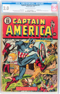 Golden Age (1938-1955):Superhero, Captain America Comics #11 (Timely, 1942) CGC GD 2.0 Cream to off-white pages....