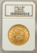 Liberty Double Eagles, 1906-D $20 MS62 NGC....
