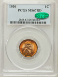 Lincoln Cents, 1930 1C MS67 Red PCGS. CAC....