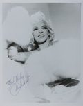 Autographs:Celebrities, Mae West, Film Actress. Signed Photograph. 8 x 10 inches. Very good....