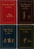 Books:Children's Books, A. A. Milne. Group of Four Pooh Books. Easton Press, ca.1985. Publisher's leather with modest shelfwear. Lackin... (Total:4 Items)