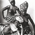 Photographs, IRVING PENN (American, 1917-2009). Dahomey Girls, One Reclining, 1967. Platinum-palladium, 1976. 19-3/4 x 19-3/4 inches ...