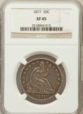 Seated Half Dollars: , 1877 50C XF45 NGC. NGC Census: (18/246). PCGS Population (27/252).Mintage: 8,304,510. Numismedia Wsl. Price for problem fr...