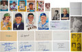 Baseball Collectibles:Others, Circa 1980 Assortment of Baseball Signed Items Cards, Checks & Index Cards Over 190 Total Pieces With Numerous Hall of Famers....