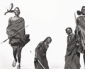 Photographs, HERB RITTS (American, 1952-2002). Maasai Dancers, Ceremonial Dance, Africa, 1993. Gelatin silver, printed later. 10-1/4 ...