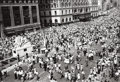 Photographs:20th Century, GARY FRANKLIN (American). VJ Day, Times Square, 1945.Gelatin silver, printed later. 9-1/2 x 13-3/4 inches (24.1 x 34.9...
