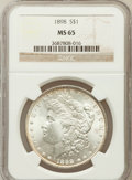 Morgan Dollars: , 1898 $1 MS65 NGC. NGC Census: (2554/509). PCGS Population(2126/637). Mintage: 5,884,735. Numismedia Wsl. Price forproblem...