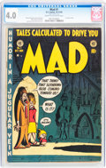 Golden Age (1938-1955):Humor, Mad #1 (EC, 1952) CGC VG 4.0 Cream to off-white pages....