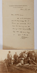 Autographs:Authors, H. G. Wells. Autograph Letter Signed. Accompanied by a smallphotographic image. Very good....