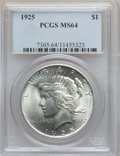Peace Dollars, 1925 $1 MS64 PCGS and 1925 $1 MS64 NGC. The current Coin DealerNewsletter (Greysheet... (Total: 2 coins)
