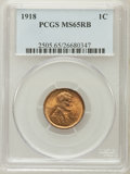 Lincoln Cents: , 1918 1C MS65 Red and Brown PCGS. PCGS Population (48/2). NGCCensus: (61/4). Mintage: 288,104,640. Numismedia Wsl. Price fo...