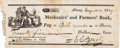 Autographs:Military Figures, Two Checks Signed: Edmond Charles Genet and Charles Maurice de Talleyrand.... (Total: 2 )