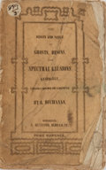 Books:Metaphysical & Occult, R. Buchanan. The Origin and Nature of Ghosts, Demons, and Spectral Illusions. Heywood, [n. d.]. Publisher's tatt...