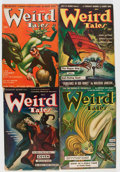 Pulps:Horror, Weird Tales Group (Popular Fiction, 1942-43) Condition: AverageVG-.... (Total: 5 Items)
