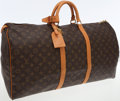 Luxury Accessories:Travel/Trunks, Louis Vuitton Classic Monogram Canvas Keepall 60cm Weekender Bag....