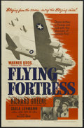 "Movie Posters:War, Flying Fortress (Warner Brothers, 1942). One Sheet (27"" X 41""). War. Starring Richard Greene, Carla Lehmann, Betty Stockfeld..."