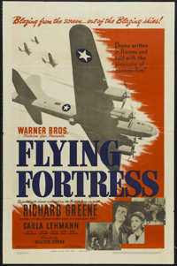 "Flying Fortress (Warner Brothers, 1942). One Sheet (27"" X 41""). War. Starring Richard Greene, Carla Lehmann, B..."