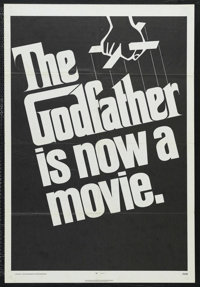 "The Godfather (Paramount, 1972). One Sheet (27"" X 41"") Advance. Crime Drama. Directed by Francis Ford Coppola..."