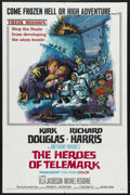 "Movie Posters:War, The Heroes of Telemark (Columbia, 1966). One Sheet (27"" X 41"").War. Starring Kirk Douglas, Richard Harris, Ulla Jacobsson a..."