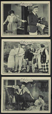 "Hurricane Hutch (Pathe', 1921). Lobby Cards (3) (11"" X 14""). Serial. Starring Charles Hutchinson, Lucy Fox, Wa..."