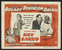 "Key Largo (Warner Brothers, 1948). Title Lobby Card (11"" X 14""). Drama. Starring Humphrey Bogart, Edward G. Ro..."