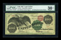Large Size:Legal Tender Notes, Fr. 167a $100 1863 Legal Tender PMG Very Fine 30....