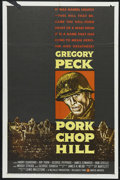 "Movie Posters:War, Pork Chop Hill (United Artists, 1959). One Sheet (27"" X 41""). War.Starring Gregory Peck, Harry Guardino, Rip Torn and Georg..."