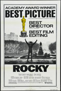 """Movie Posters:Sports, Rocky (United Artists, 1977). One Sheet (27"""" X 41"""") Academy Awards Style B. Drama. Starring Sylvester Stallone, Talia Shire,..."""