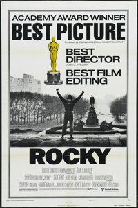 """Rocky (United Artists, 1977). One Sheet (27"""" X 41"""") Academy Awards Style B. Drama. Starring Sylvester Stallone..."""