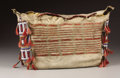 American Indian Art:Beadwork, A SIOUX QUILLED AND BEADED HIDE TIPI BAG. . c. 1875. . ...
