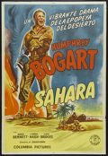"Movie Posters:War, Sahara (Columbia, 1943). Argentinian One Sheet (29"" X 43""). War.Starring Humphrey Bogart, Bruce Bennett, Lloyd Bridges, Rex..."