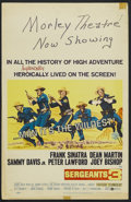 "Movie Posters:Adventure, Sergeants 3 (United Artists, 1962). Window Card (14"" X 22"").Western Comedy. Starring Frank Sinatra, Dean Martin, Sammy Davi..."