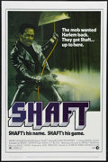 "Movie Posters:Action, Shaft (MGM, 1971). One Sheet (27"" X 41""). Blaxploitation. StarringRichard Roundtree, Moses Gunn, Gwen Mitchell and Christop..."