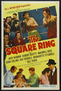 "The Square Ring (Republic, 1953). One Sheet (27"" X 41"") Style A. Sports Drama. Starring Jack Warner, Robert Be..."