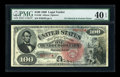 Large Size:Legal Tender Notes, Fr. 168 $100 1869 Legal Tender PMG Extremely Fine 40 EPQ....