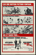 """Movie Posters:Action, Thunderball/You Only Live Twice Combo (United Artists, R-1970). One Sheet (27"""" X 41""""). Action. Starring Sean Connery, Claudi..."""