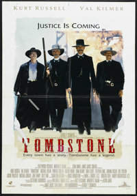 "Tombstone (Buena Vista, 1993). One Sheet (27"" X 41"") Double-Sided. Western. Starring Kurt Russell, Val Kilmer..."