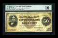 Large Size:Gold Certificates, Fr. 1192 $50 1882 Gold Certificate PMG Very Good 10....